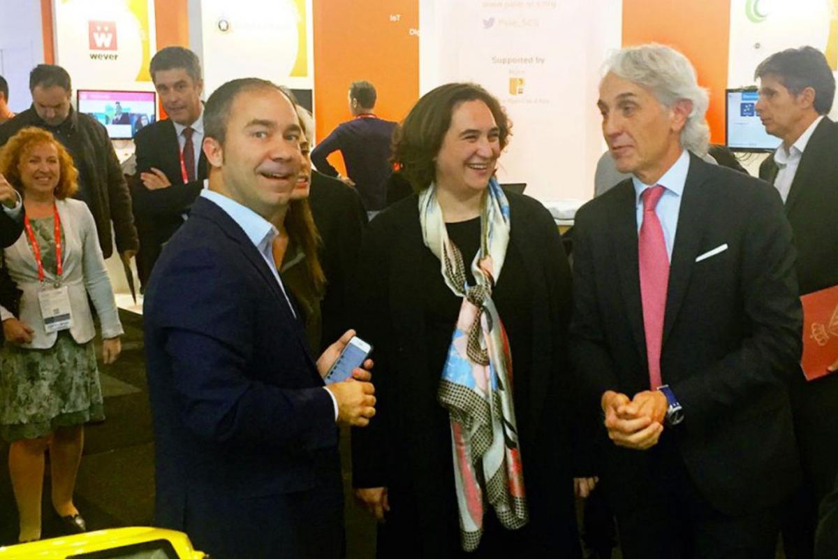 Integr@ fue honrada con la presencia de la Alcaldesa en la SmartCity Expo de BCN